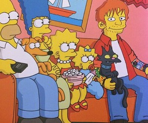 ed sheeran and the simpsons image
