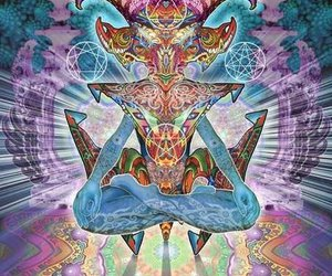 goat, spiritual, and psychedelic image