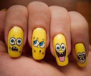 nails, spongebob, and yellow image