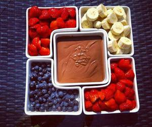 chocolate, fruit, and strawberry image