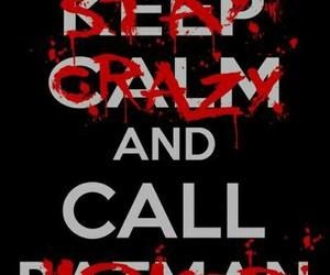 batman, joker, and keep calm image