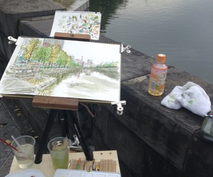 art, painting, and draw image