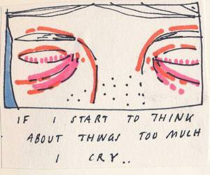 quotes, cry, and art image