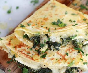 food, crepes, and spinach image