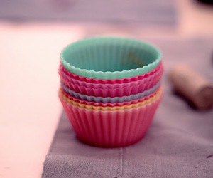 colour, cupcakes, and green image