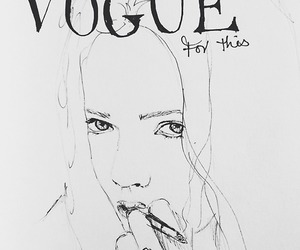 art, vogue, and drawing image