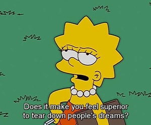 quotes, the simpsons, and Dream image