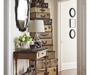 suitcase, vintage, and decor image
