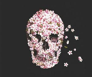 calavera, wallpaper, and flores image