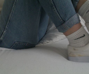 nike, pale, and jeans image