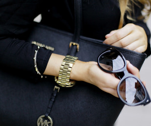 black, fashion, and sunglasses image