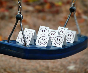 smile, swing, and cute image