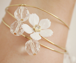 flowers, bracelet, and cute image
