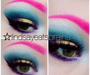colourful, eyeshadow, and makeup image