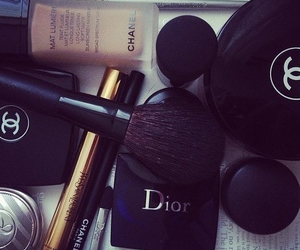 chanel, dior, and make up image