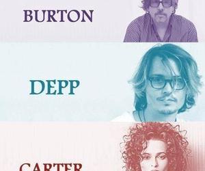 tim burton, helena bonham carter, and johnny depp image