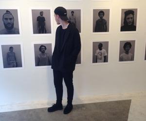 boy, black, and grunge image