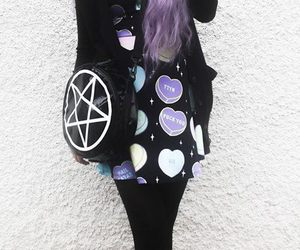 pastel goth and purple hair image