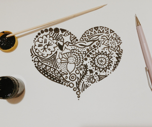 art, ♡, and heart image