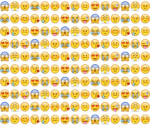 background, emoticons, and faces image