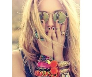 hippie and blonde image