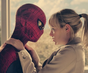spiderman, emma stone, and andrew garfield image