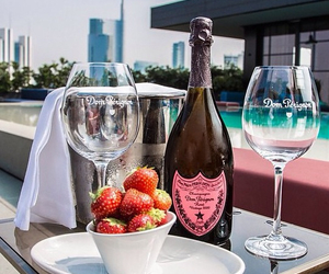Dom Perignon and strawberries image