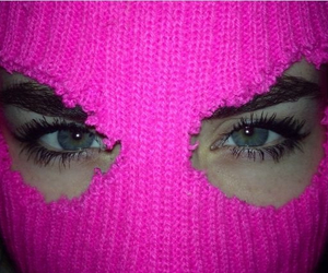 pink, eyes, and grunge image