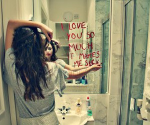 love, girl, and sick image