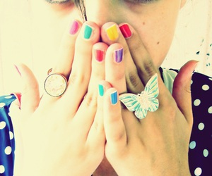 butterfly, colours, and nails image