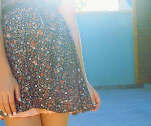 dress, nails, and sun image