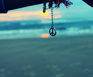 peace, beach, and sea image