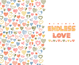 endless, heart, and pattern image