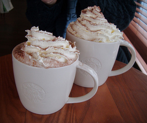 coffee, starbucks, and cream image