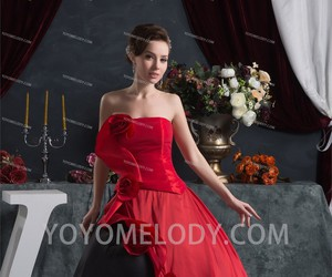 red black, ball gown dress, and yoyomelody image