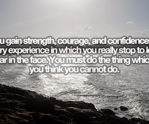 confidence, courage, and quote image