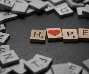 hope, heart, and text image