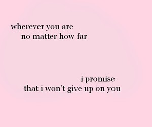 quote, pink, and promise image