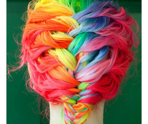 braid, colorful, and fuck image