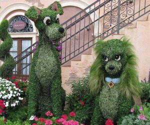dog, disney, and garden image