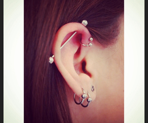 beautiful, earrings, and teenagers image