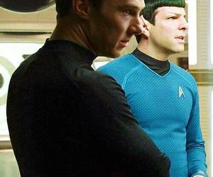 khan, spock, and star trek image