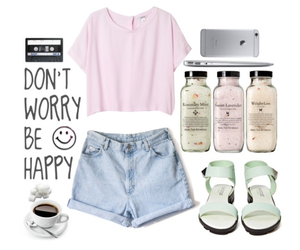 coffee, shorts, and be happy image