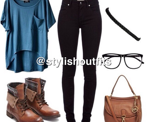 outfit, clothes, and boots image
