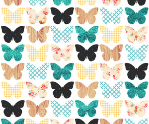 butterfly, pattern, and wallpaper image