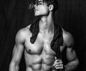 abs, black and white, and Hot image