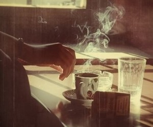 cigarette, coffee, and noir image