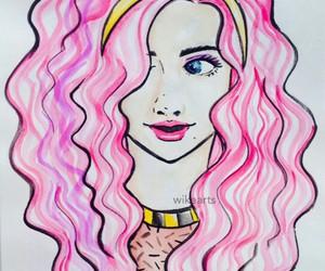 bandana, hairstyle, and pink image