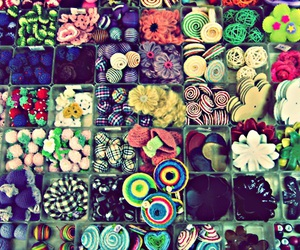 buttons, fun, and colours image