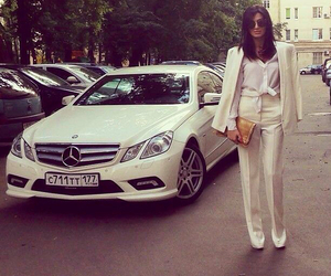 car, girl, and outfit image